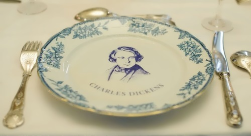 Plate with the portrait of Dickens. Dominic Lipinski PA