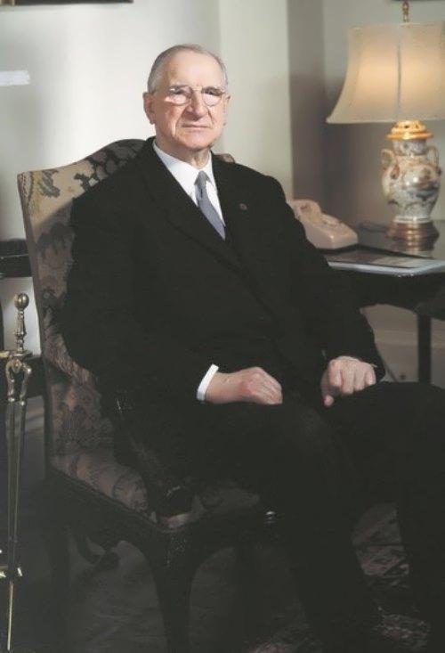 Portrait of Eamon de Valera, president of Ireland, 1964. Washington DC