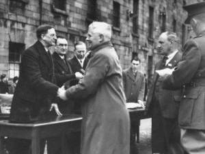 De Valera Shaking Hands with an Unidentified Man