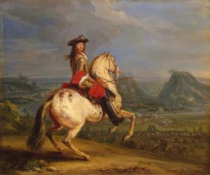 Louis XIV during the siege of Besancon in 1674