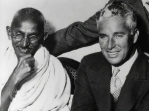 Charlie Chaplin And Gandhi
