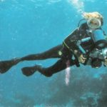 At the age of 71, Leni scuba dived with the camera