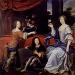 Louise de La Valliere with children