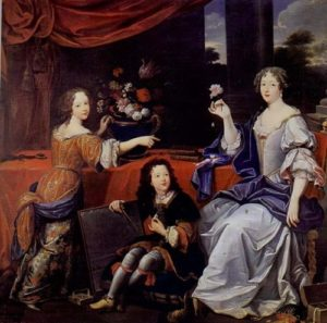 Louise de La Valliere with children