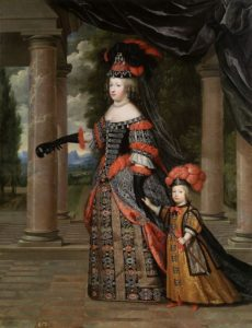 Maria Theresa, wife of Louis XIV, with their only surviving son, the Grand Dauphin