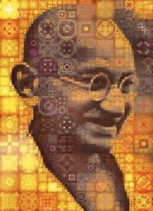 Portrait of Gandhi