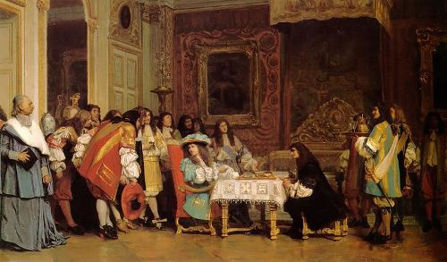 Jean-Leon Gerome. Moliere visiting Louis XIV (1863). Public library. Malden, MA