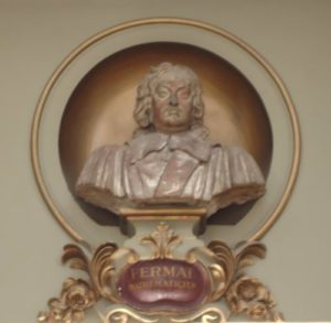 Bust of Fermat in Toulouse Capitole