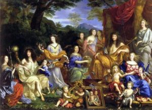 Louis XIV and his family dressed as Roman gods