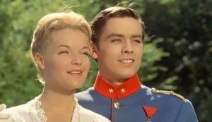 Schneider and Delon in the film Christine, 1958