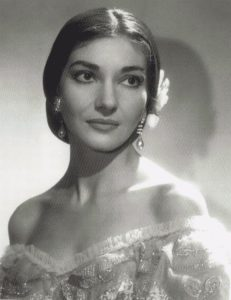 Callas in the opera La Traviata by Verdi
