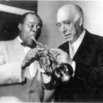 Louis Armstrong and Niels Bohr, Copenhagen, 1959