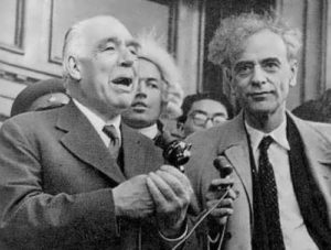 Bohr and Landau in 1961