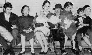 Charlie, his wife and their children
