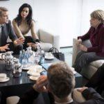 Angela Merkel and Clooney