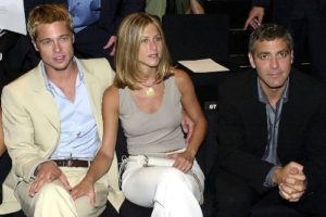 Brad Pitt, Jennifer Aniston and George Clooney