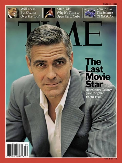 Clooney on the cover of Time magazine