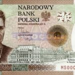 20 zlotych with the portrait of Curie