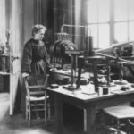Maria in her laboratory