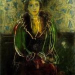 Portrait of Dora Maar with a сrown of flowers