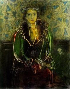 Portrait of Dora Maar with a сrown of flowers