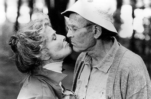 Hepburn and Henry Fonda, On Golden Pond, 1981