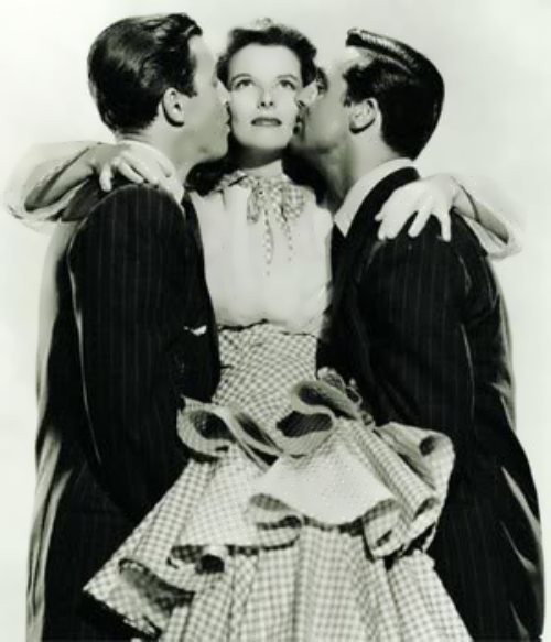 Hepburn, Cary Grant and James Stewart