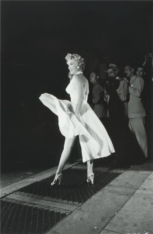 The most famous photo of Marilyn, 1955