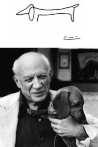 Picasso and his dog