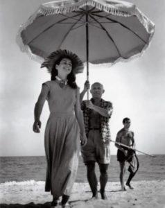 Françoise Gilot and Pablo Picasso. 1948