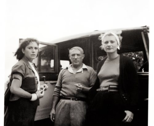 Picasso, Dora Maar and Lee Miller, Mougins, 1937