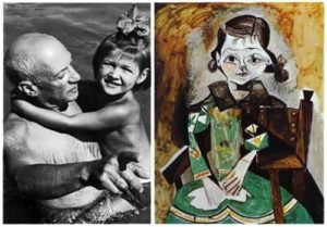 Picasso with his daughter Paloma