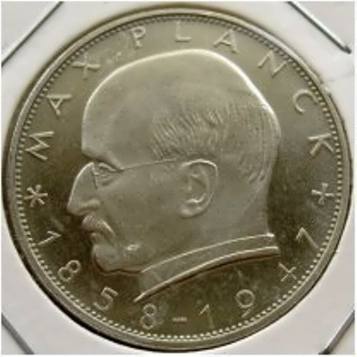 Image of Max Planck on the coin