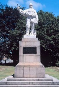 Sculpture of Robert Scott by Kathleen Scott. Christchurch, New Zealand