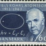 Niels Bohr. Post stamp