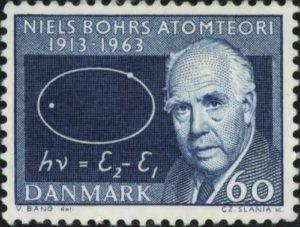 Niels Bohr. Post stamp