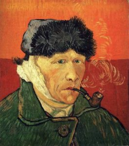 Self Portrait with Bandaged Ear and Pipe, 1889