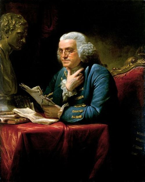 Portrait of Benjamin Franklin by David Martin