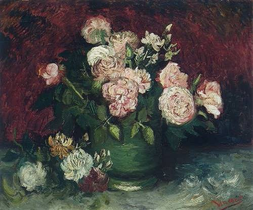 Bowl with Peonies and Roses, 1886