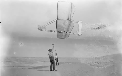 Dan Tate and Wilbur Wright on September 19, 1902