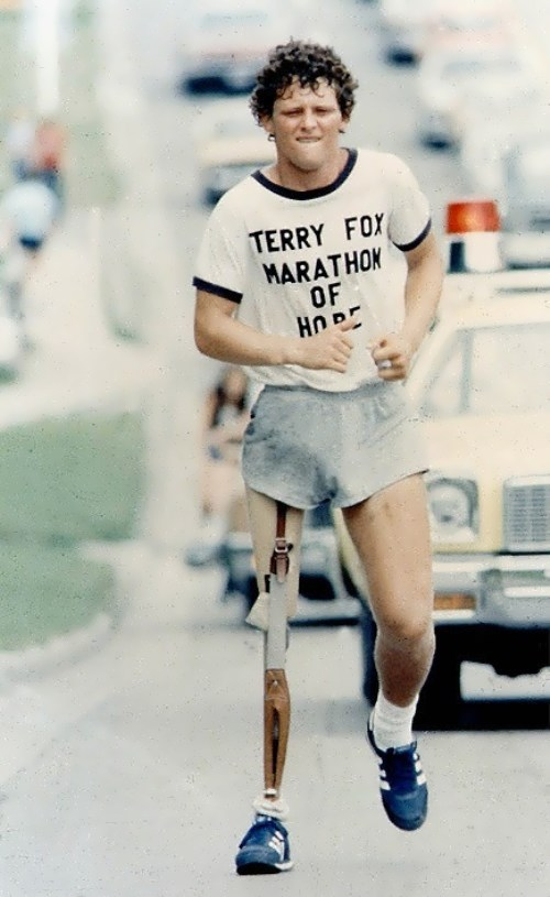 World of faces Terry Fox – one-legged runner - World of faces