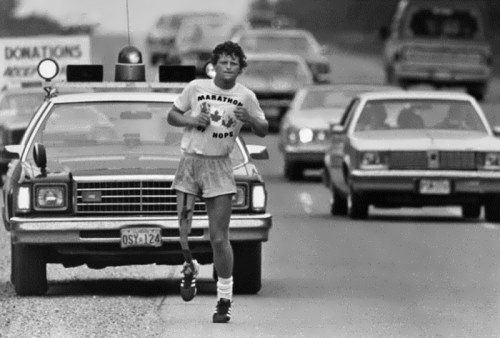 Terry during his Marathon of Hope