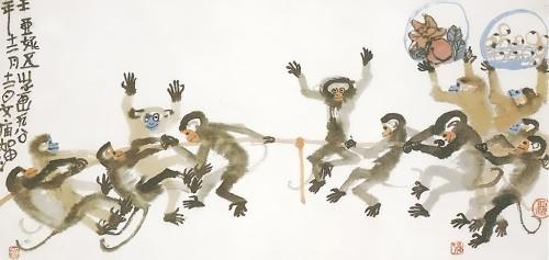 Cute monkeys by Yani