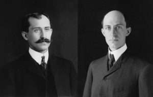 Wilbur and Orville Wright in 1905, when they were 34 and 38 years old