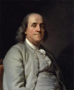 Portrait of Franklin by J. Duplessis, 1785