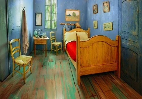Reconstruction of Vincent's Bedroom in Arles