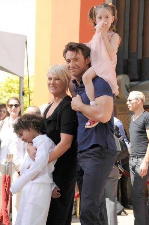 Hugh and his family
