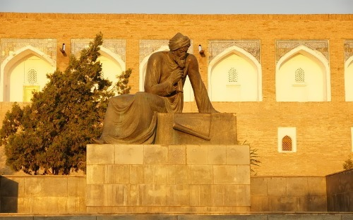 Monument to Al-Khwarizmi one of the greatest scientists of the Middle Ages