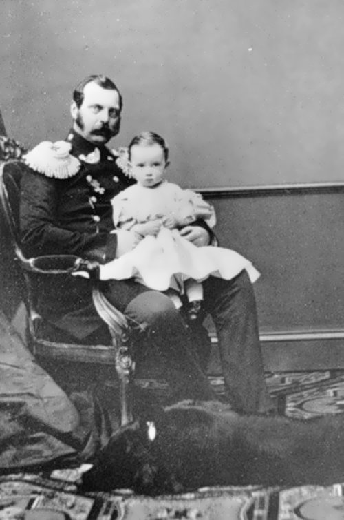 Alexander II and his son Pavel