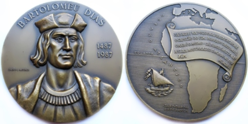 Coin dedicated to Bartolomeu Dias